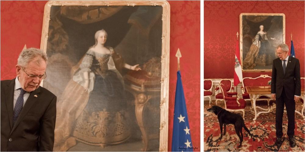 mariana perrone, austria, snowing butterflies, hofburg, interior, vienna, van der bellen, maria theresa