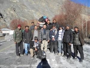Members of SLF's research team in Khunjerab National Park