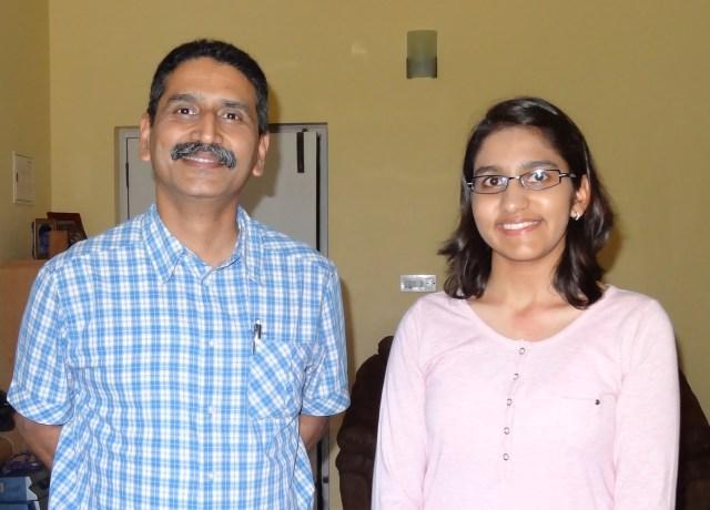 Saloni and her mentor, Dr. Yash Veer Bhatnagar