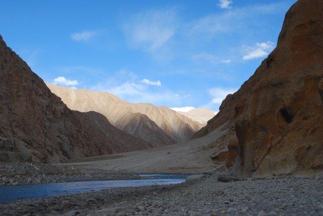Jaw-droppingly gorgeous Indus river is Ladakh's lifeline. Snow leopards roam the steep cliffs above. Photo: Matt Fiechter, SLT