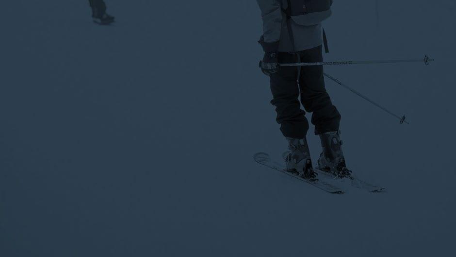 skier meribel