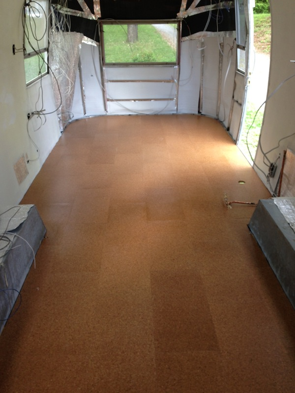 Absolutely Floored, Part 2: Laying a Cork Floor in a Vintage Airstream