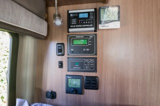 The instrument panels and gauges for all the van living space components