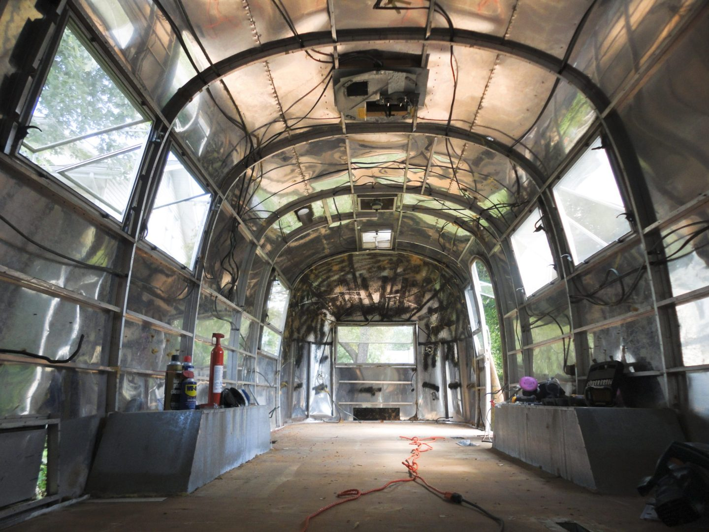 GUTTING (And Repurposing) a Vintage Airstream Interior
