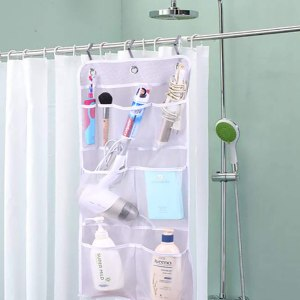 mesh pocket RV bathroom over the door organizer