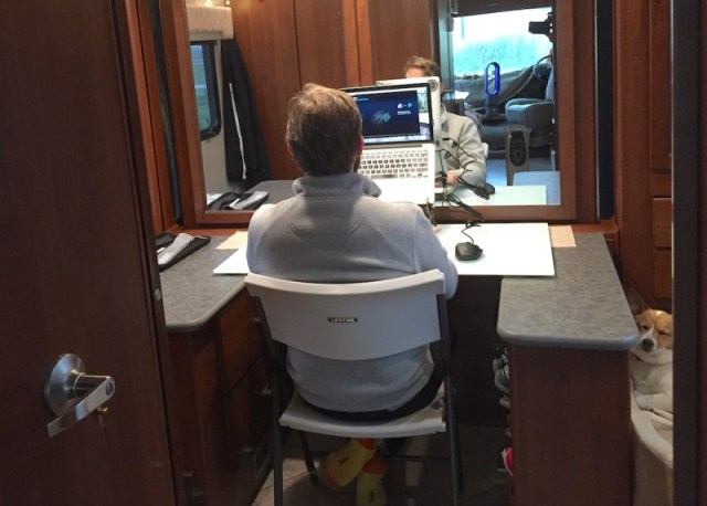Jason working in our RV office