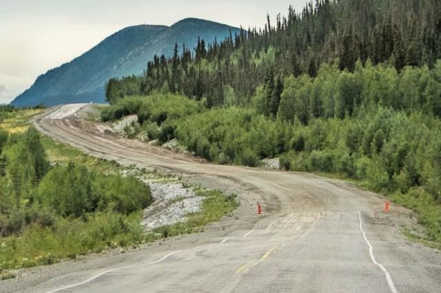 Alaska road frost heaves