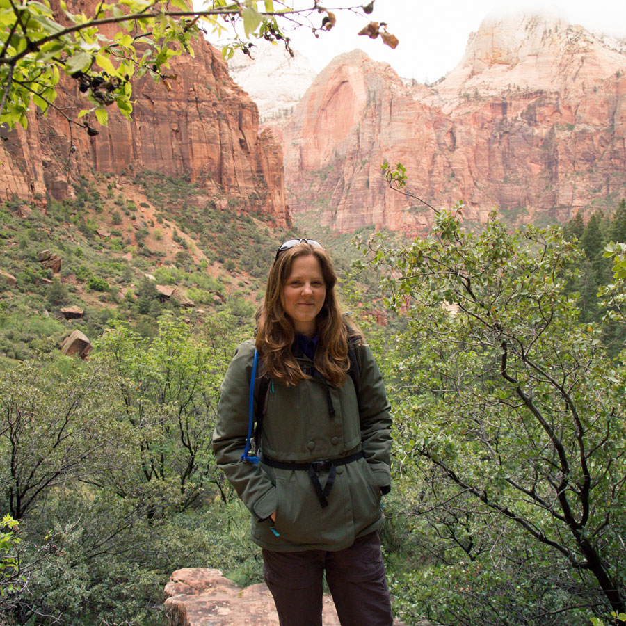 Marie living her adventure at Zion National Park