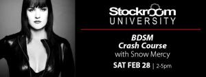 Stockroom BDSM Crash Course, Feb. 28, 2015