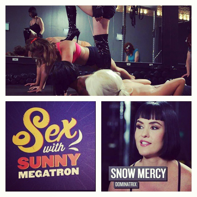 "Snow Mercy appears on the Showtime original series ""Sex With Sunny Megatron.""  The theme of the episode is BDSM."