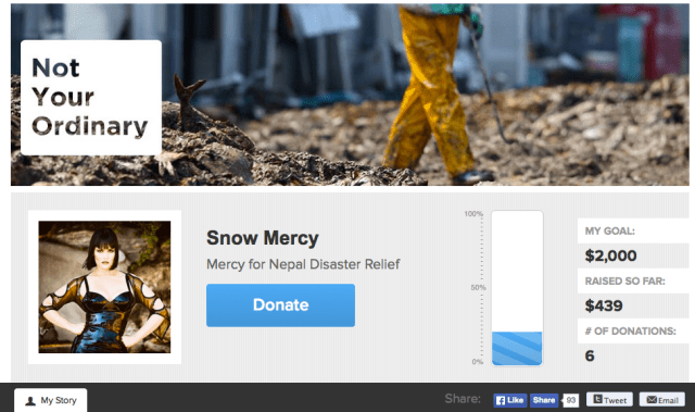 Project Nepal Fundraising Page