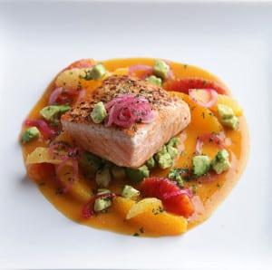 Seared King Salmon at Sweet Basil