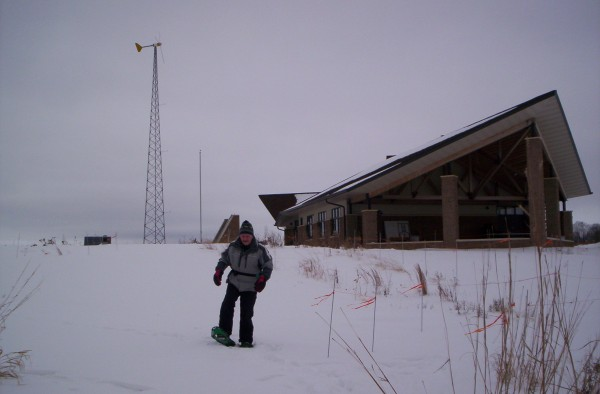 Snowshoeing from the Mead Wildlife Education and Visitor Center.