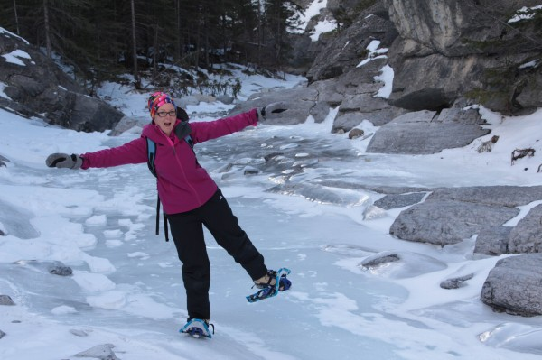 Balancing on waterfall