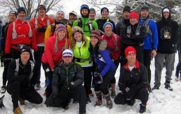 All the 2013 Wilderness Athlete Gnarly Bandit contestants prior to the start of the race