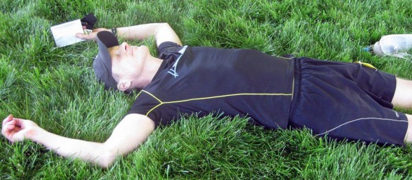 Ron Hendrickson enjoying post-race nirvana, photo by Lisa Messerer