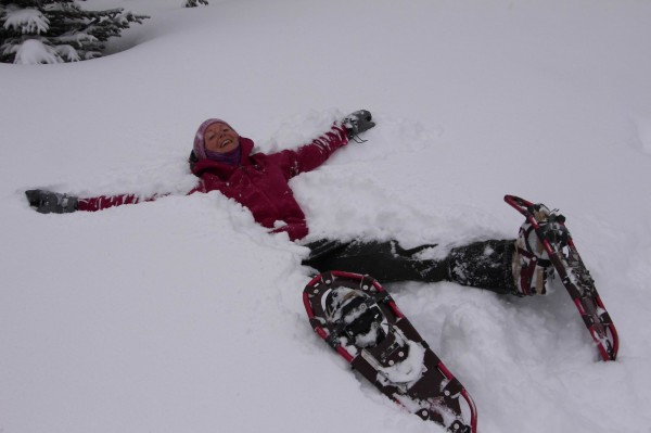 Snow angels at Engadine