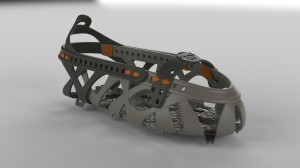 GV Snowshoe's Step-In Tech binding up close