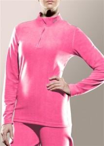 Women's zip mock neck top
