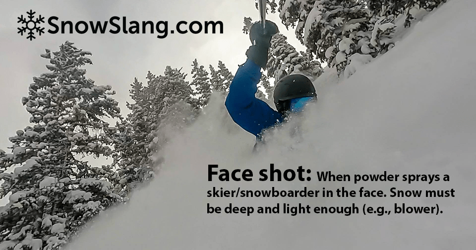 Face shot at Winter Park, Colorado. Photo of/by Mitch Tobin, editor SnowSlang.com