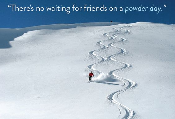 No friends on a powder day snowslang