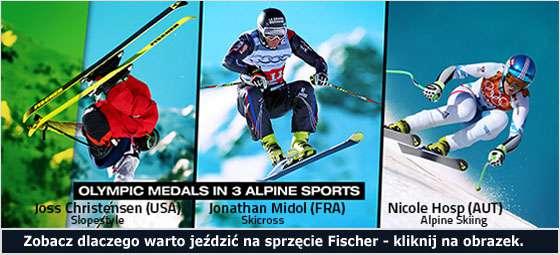 Sukcesy zawodników jeżdzących na nartach Fischer na igrzyskach olimpijskich w Sochi