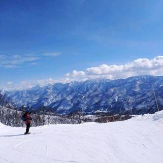 The view from higher up the mountain at Tsugaike Kogen Ski Resort.