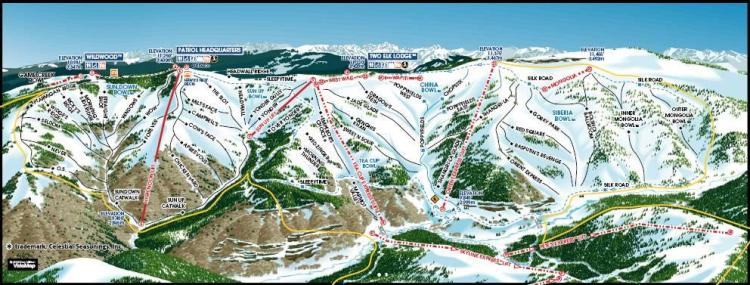 Vail's Back bowls trail map