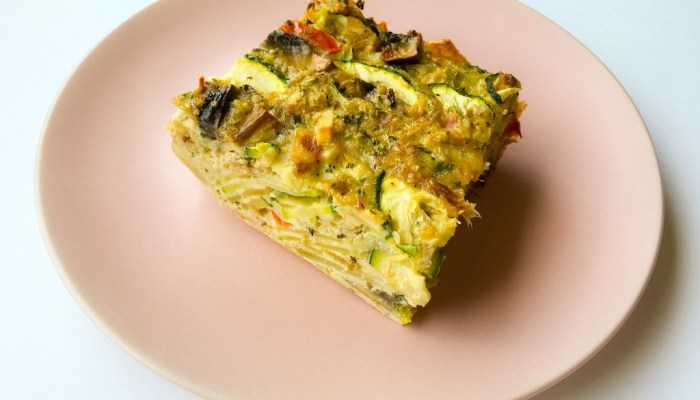 Healthy Dairy free quiche with tuna and vegetables you will love