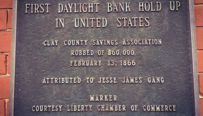 Jesse James Bank Museum in Missouri it is small but worth it
