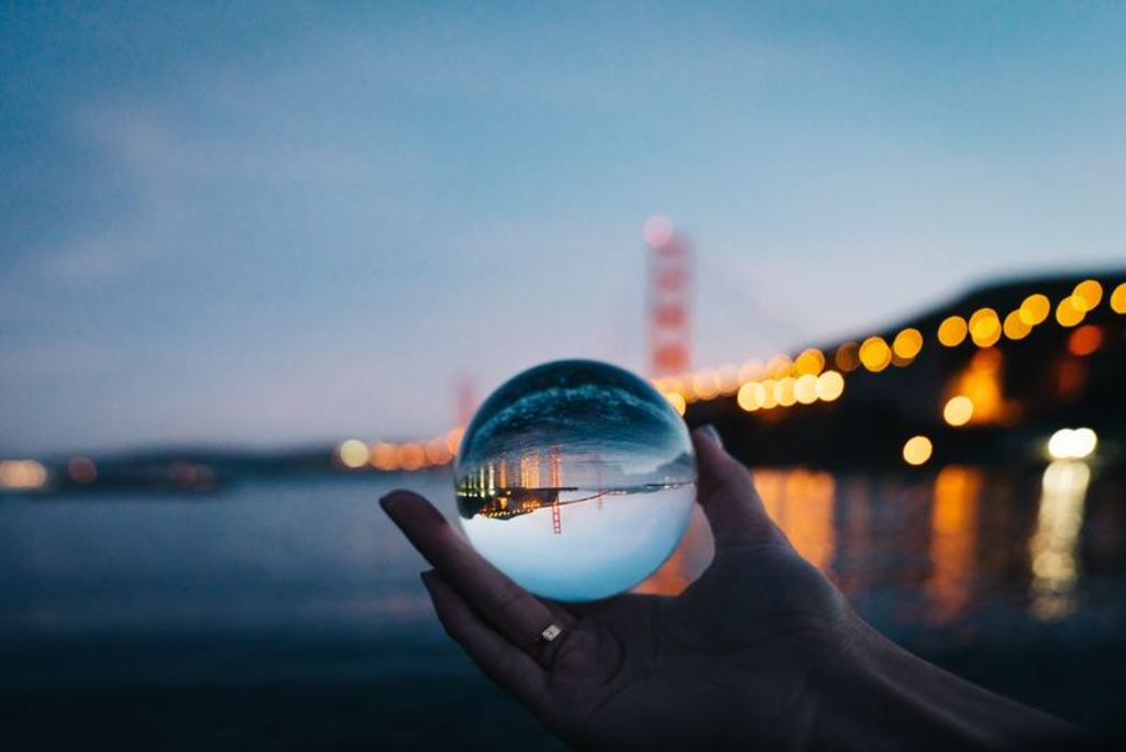 Crystal ball telling what the future will be like