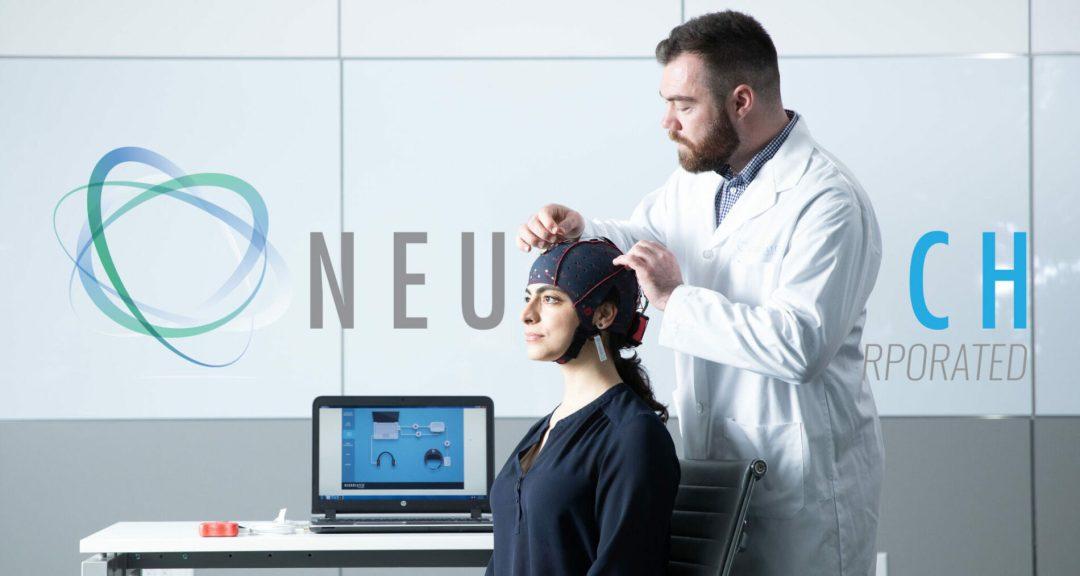 Doctor apply Neurocatch EEG headwear