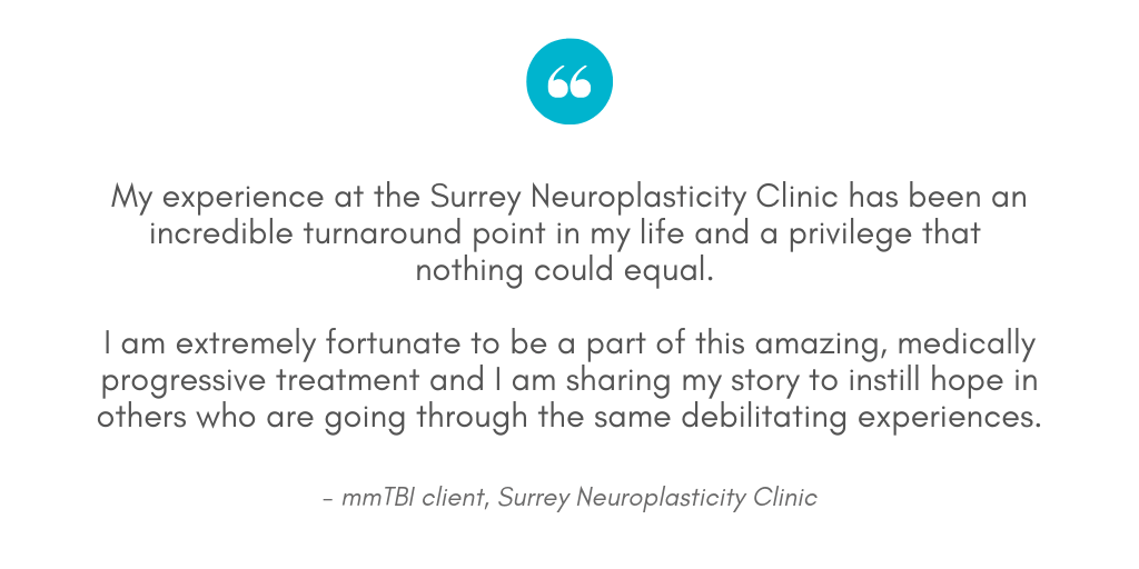 Testimonial from client at Surrey Neuroplasticity Clinic