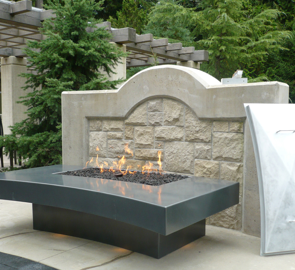 Large Outdoor Deck   Vancouver Gas Fireplaces on Outdoor Gas Fireplace For Deck id=15741