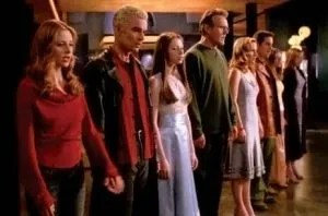 """Walk Through the Fire"" sung by the cast of ""Buffy the Vampire Slayer""."