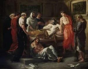 """""""Last Words of the Emperor Marcus Aurelius"""" --Eugène Delacroix (1844)."""