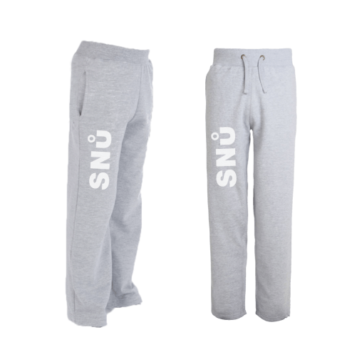 Snu Wear - Grey sweat pants, loose cotton joggers