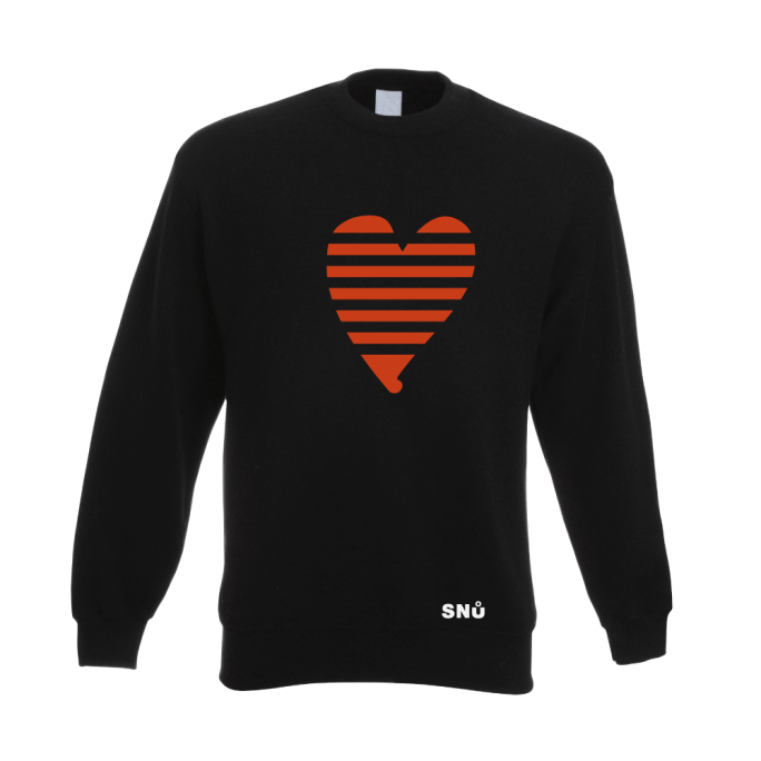 Snu Wear - Valentine heart sweatshirt jumper ribboned heart, broken heart