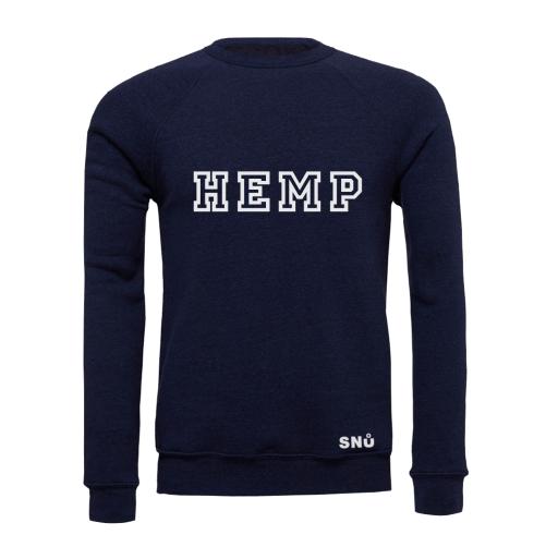 Snu Wear - Hemp Studies Sweatshirt Ultra soft Navy