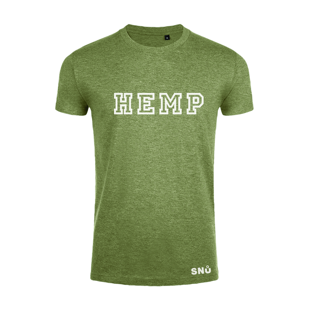 Hemp leaf studies tshirt by Snu Wear CBD tee