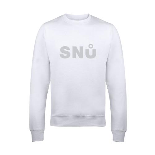 White Stealth Sweatshirt by Snu Wear cotton streatwear
