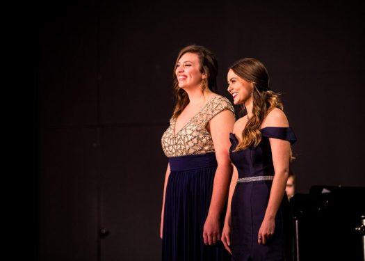 girls singing duet