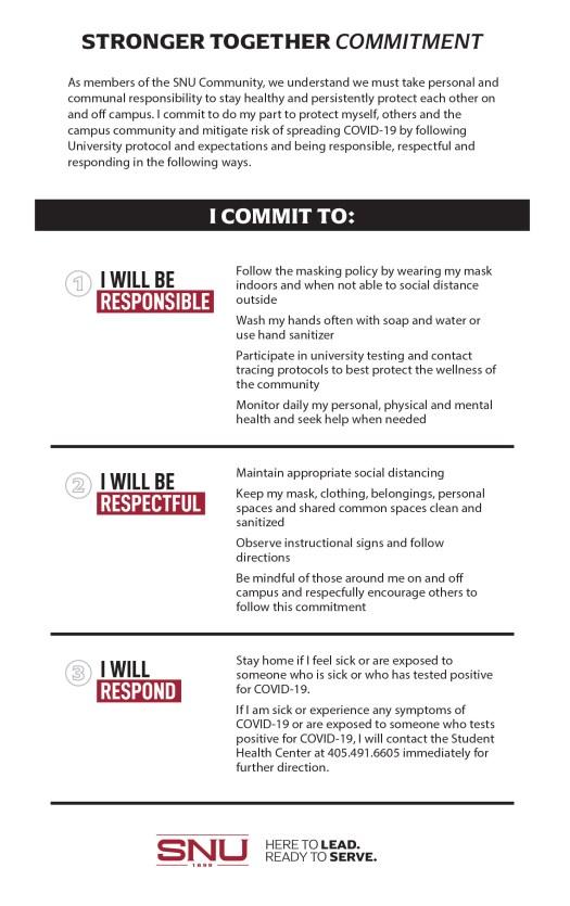 Covid pledge - details