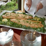 Basil Salmon on memorial buffet
