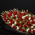 appetizer caprese skewers for cocktail hour wedding