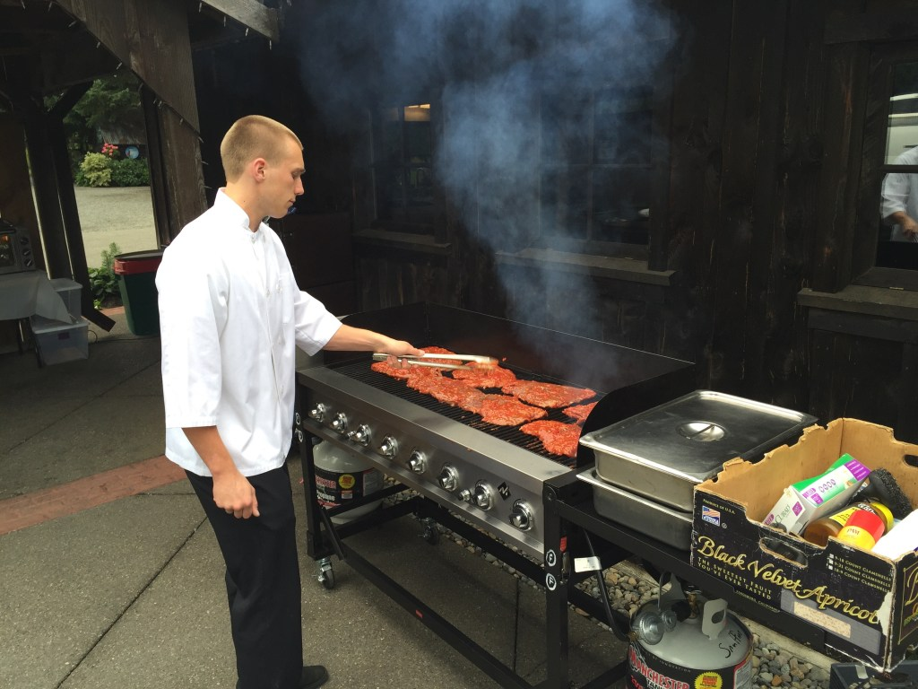 grilled meat action station