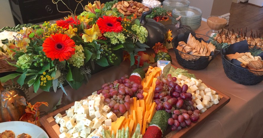 cold appetizer display