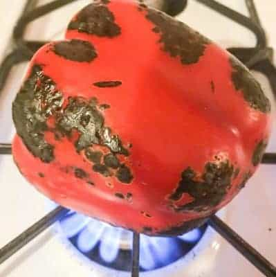 How to Roast a Red Pepper on your Gas Stove Top