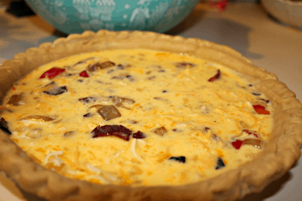 Quiche - add egg mixture