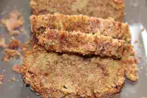 Snickerdoodle Zucchini Bread on Gray Platter